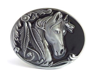 Aus Dem Ausland Importiert Gürtelschnalle Buckle Für Gürtel Bis 4 Cm Breite Metall Tolle Details Pferd 3d