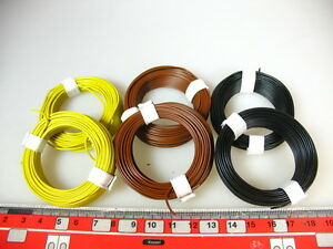 0-15-m-60-m-galon-marron-amarillo-negro-por-ejemplo-para-Fleischmann-h0-n-unidades-q11