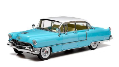 1 18 vertlight 1955 illac Fleetwood Série 60 Spécial Bleu Blanc Lmtd.ed