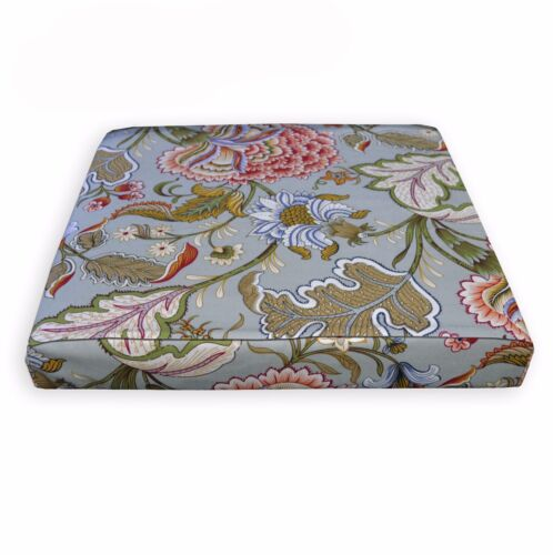lf342t Light Grey Sky Blue Red Sand White Cotton Canvas 3D Seat Cushion Cover