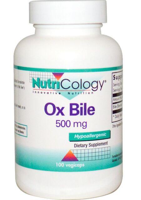 NEW NUTRICOLOGY OX BILE HYPOALLERGENIC ACID FORMULAS LIVER PRODUCTION SUPPLEMENT