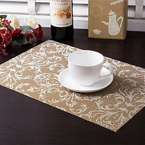 1/4/6pcs Placemats PVC Dining Room Placemats Table Mat Heat ...