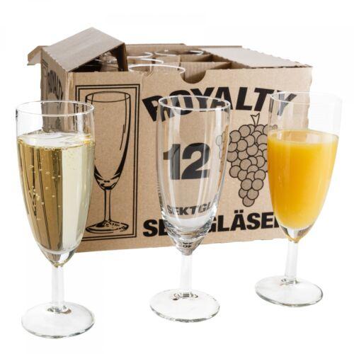 120er Set Royalty Sektgläser 16cl Sektglas Glas Sekt Prosecco Party 0,1L Gläser