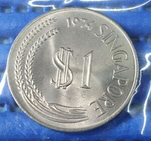 1974-Singapore-1-Stylised-Lion-Coin