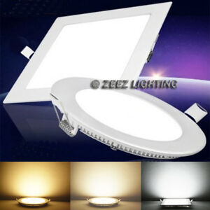 buy online 2a334 40412 Details about 6W 9W 12W 15W 18W LED Recessed Ceiling Panel Down Lights Bulb  Slim Lamp Fixture