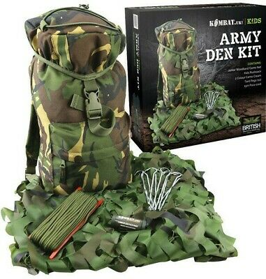 KIDS ARMY TACTICAL SHOULDER HOLSTER 5 BOYS SOLDIER DRESS UP DPM CAMO