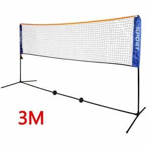 3m-Adjustable-Foldable-Badminton-Tennis-Volley-ballTraining-Outdoor-Garden