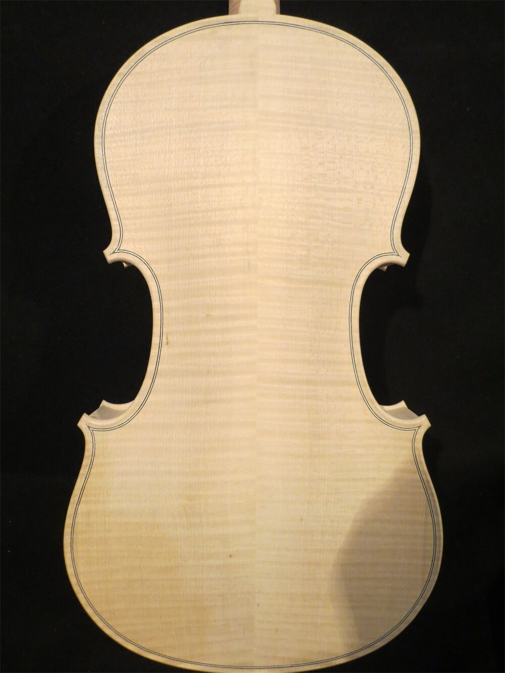 Strad Strad Strad style solid wood unfinished violin 4 4 flame back Weiß violin  10092 993623