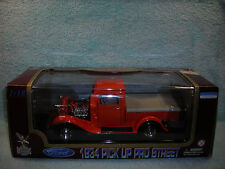 1/18 SCALE DIECAST 1934 FORD PICK UP TRUCK PRO STREET IN ORANGE BY YAT-MING.