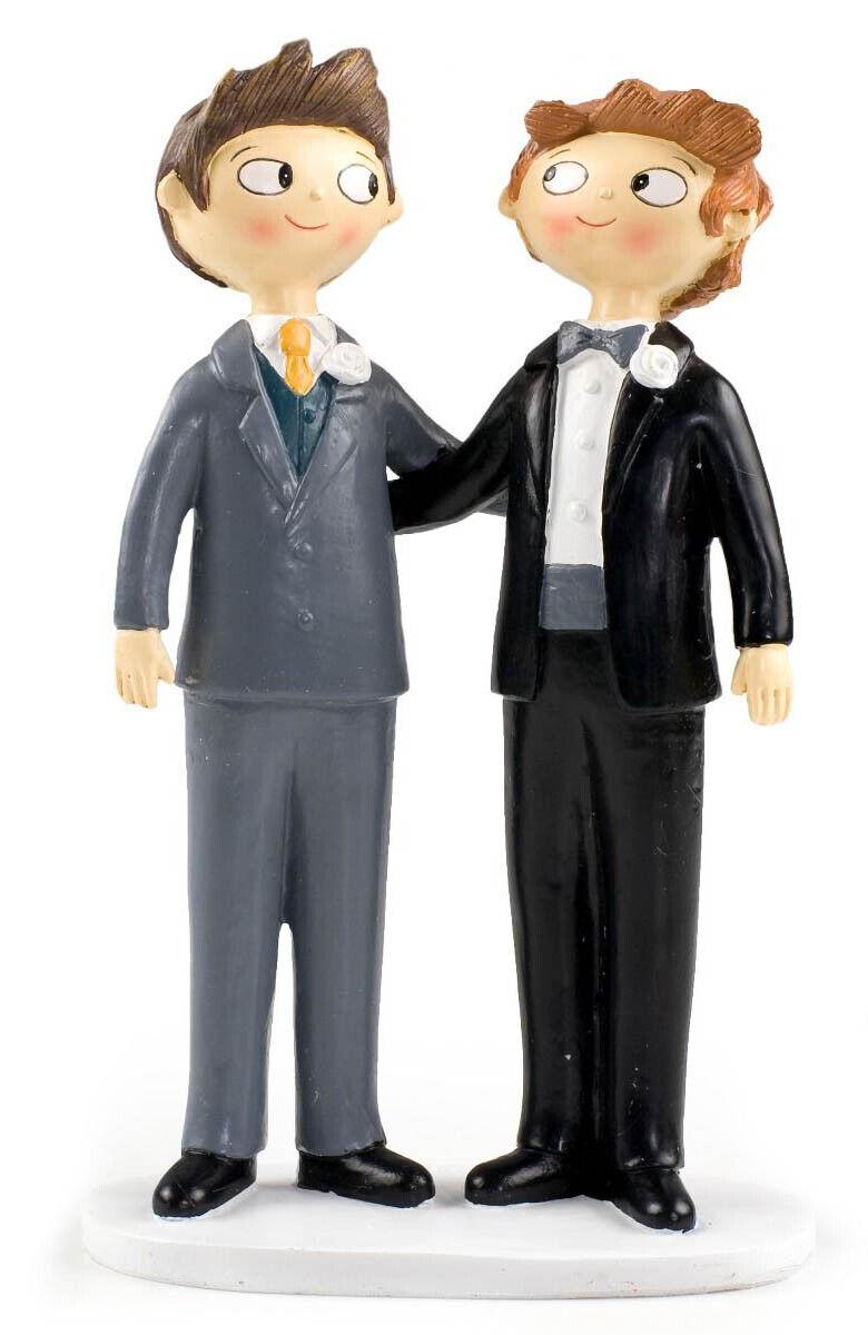 Figura de pastel para boda Boys Pop & Fun 21cm