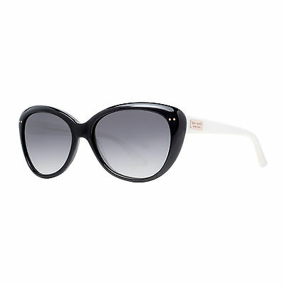 Kate Spade KS Angelique FU8 Y7 Black White/Gray Gradient Cat Eye Sunglasses