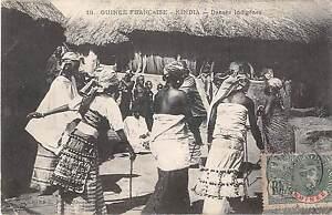 CPA-GUINEE-FRANCAISE-KINDIA-DANSES-INDIGENES