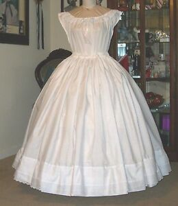 CIVIL WAR DRESS~VICTORIA<wbr/>N GORGEOUS OVERHOOP PETTICOAT~ADJU<wbr/>STABLE WAIST~REG SIZE