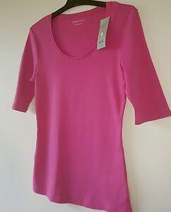 BNWT-Size-10-M-amp-S-Marks-amp-Spencer-Ladies-UK-Designer-Pink-Cotton-New-Tshirt-Top