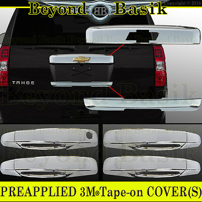 Tailgate Handle Cover 07-14 Chevy Tahoe+Suburban Chrome Top Liftgate Molding