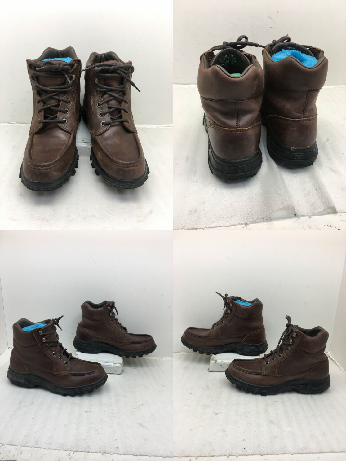 Men's Polo Sport Brown Leather Lace Up Boots sz  10.5 D (Y)