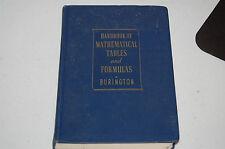 GOOD VINTAGE MATHEMATICAL TABLES & FORMULAS MATH TEXT BOOK HUGE LOT LIST
