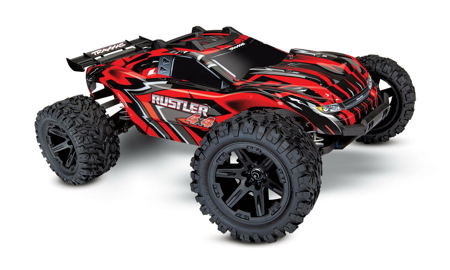 TRAXXAS 67064-1 R RUSTLER Model car Electrical 4x4 Brushed Red
