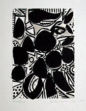 Helmut DITTMANN 1931-2000 Berlin: Schwarz-Weiß-Grau Tusche-Aquarell-Collage 1977