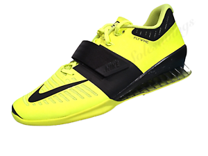 best website a6bce cd1b5 Image is loading Nike-Romaleos-3-Mens-Weightlifting-Shoes-Volt-Black-