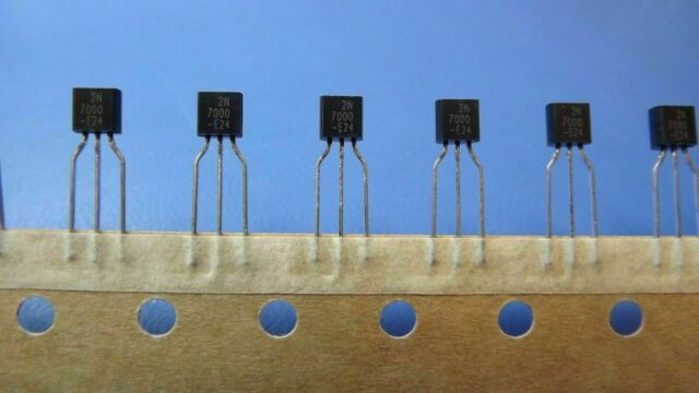 10 x 2n7000 mosfet transistor to-92 N-Canale 60v 200ma