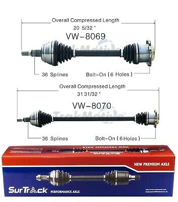SurTrack VW-8070 CV Axle Shaft
