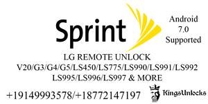 Détails : LG G6 G5 V20 Stylo 3 LS993 LS992 LS997 LS777 Sprint Boost GSM  Remote Unlock