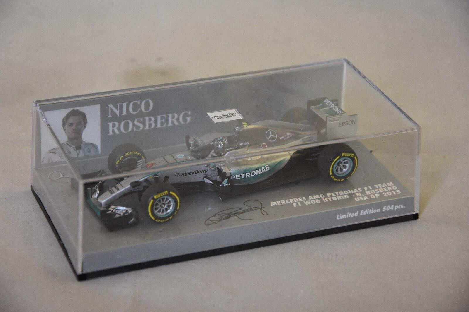 MINICHAMPS - MERCEDES MERCEDES MERCEDES AMG PETRONAS F1 TEAM W06 Rosberg USA GP 2015 23c84a
