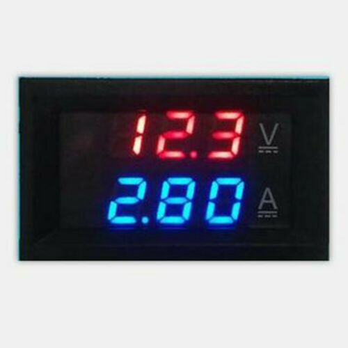 DC 0-100V Red Blue Dual LED Display Digital Volt Voltage Current Meter 1A//10A