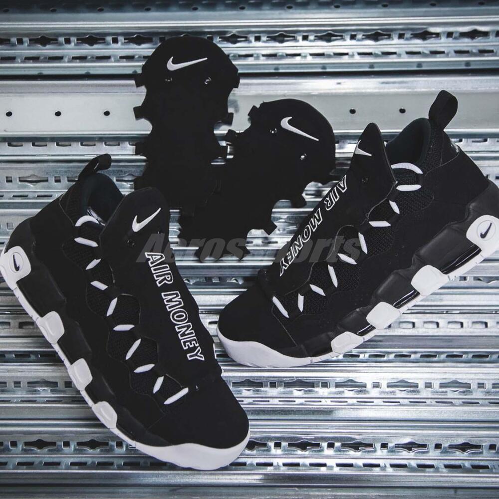 Nike Air More Money Noir blanc Dollar homme Basketball Chaussures Sneakers AJ2998-001 Chaussures de sport pour hommes et femmes
