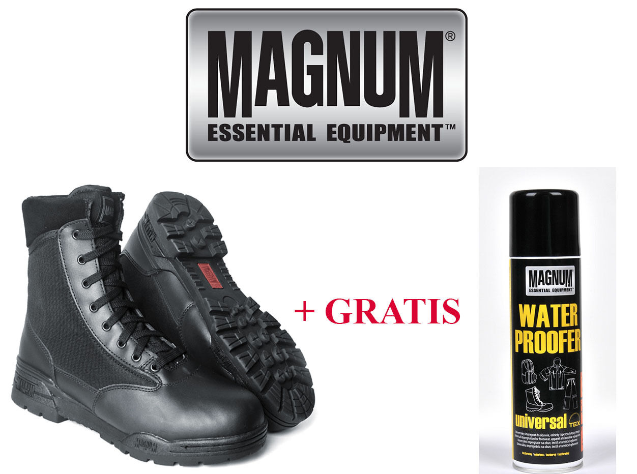 Magnum Hi-Tec Cuero Classic Botas Ejército Zapatos Botas De Combate 36-48 NUEVO