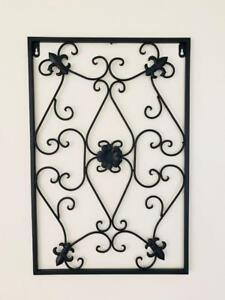 Handmade Iron Metal Wall Art Decor Mural French Scroll Fleur De Lis