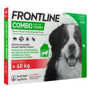 Frontline Combo Pipettes Giant Dogs 40 Kg Puces Et Tiques 4.02 Ml
