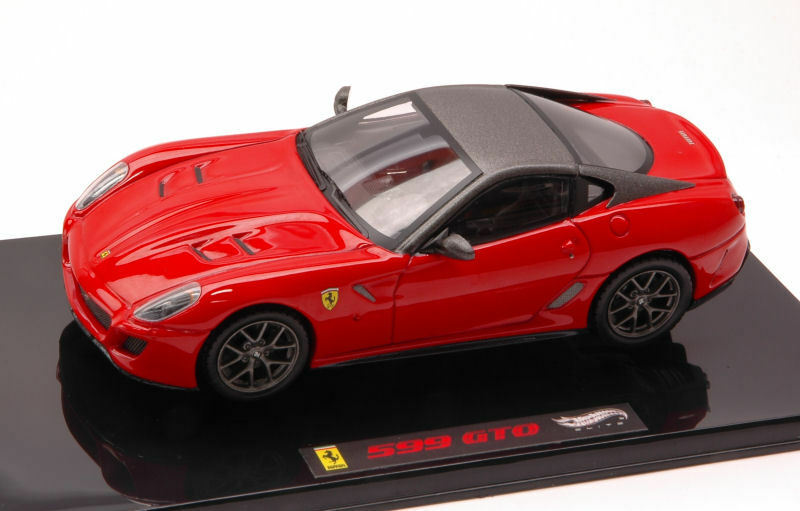 Web oficial Ferrari 599 gto rojo rojo rojo elite Collection 1 43 Model t6267 Hot Wheels  punto de venta