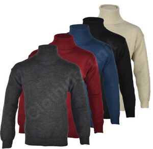 Mens-Roll-Turtle-Polo-Funnel-Neck-Jumper-Knitted-Winter-Top-M-L-XL
