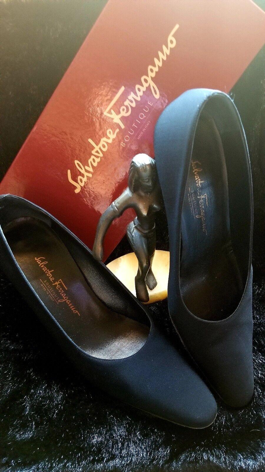 Salvatore Ferragamo femmes chaussures-noir noir tissu 9 1 2 B