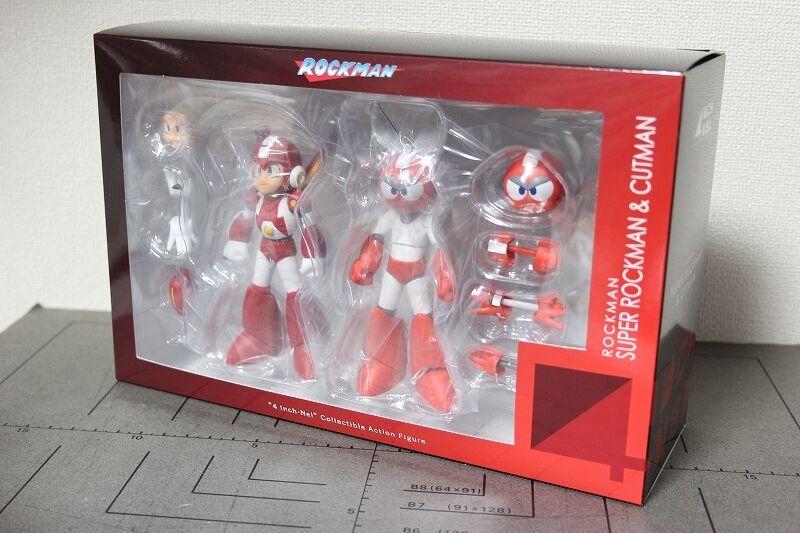 Sentinel Rockman Megaman 4 pulgadas Nel súper Mega Man & Cortar Hombre Figura De Acción