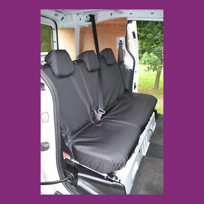 Peugeot Partner 2008-2018 Black Tailored Waterproof Rear SingleDouble Seat Cover