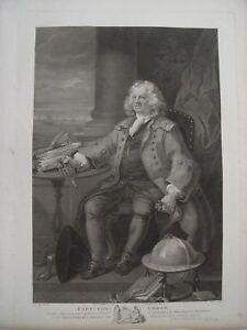 Brillant Capitaine Thos Coram Gravure Par William Nutter Sur Art De William Hogarth Attrayant Et Durable