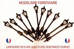 Lot-De-10-Lampadaires-De-Ville-A-Led-Ho-1-87-65-mm-12v-Avec-R-510-JOUEF-LIMA