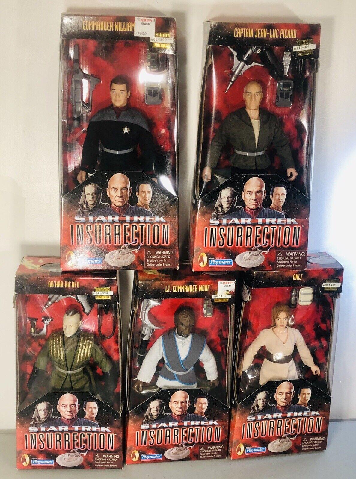 Star Trek Insurrection - Action Figure Set of 7 - NIB & Unopened