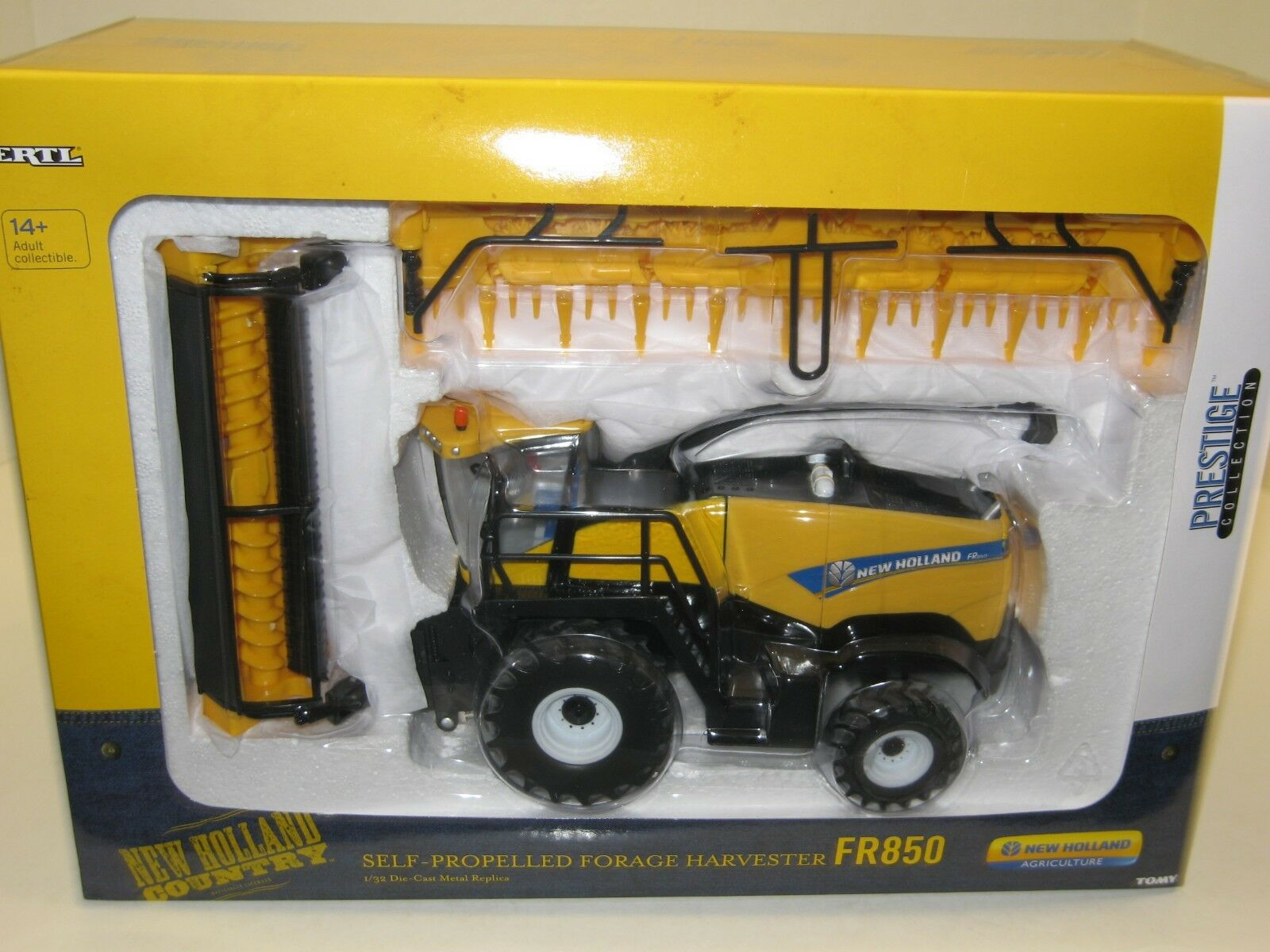 1/32 NEW HOLLAND FR850 SELF-PROPELLED FORAGE HARVESTER PRESTIGE COLL. NIB