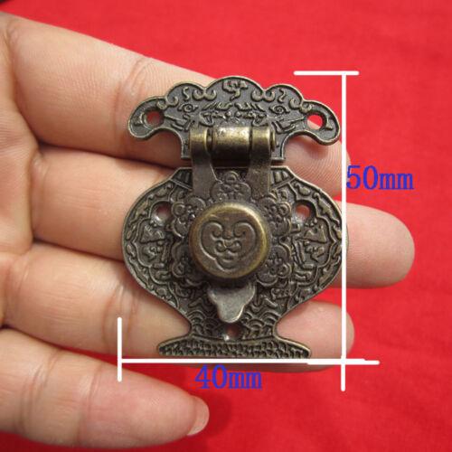 4PCS Antique Bronze Haspe Latch Schmuck Holzkiste Schloss Cabinet Case L Ob