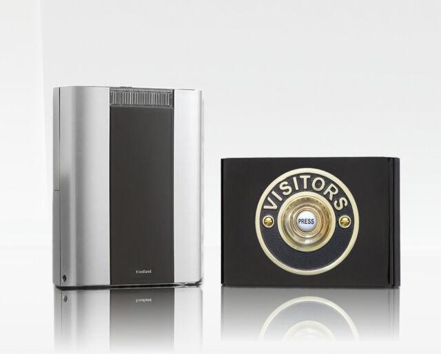 200m Wireless Doorbell kit with Wireless Contemporary Visi Friedland Libra Pro