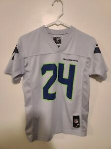 Details about SEATTLE SEAHAWKS # 24 MARSHAWN LYNCH NFL JERSEY YOUTH SIZE MEDIUM VERY NICE