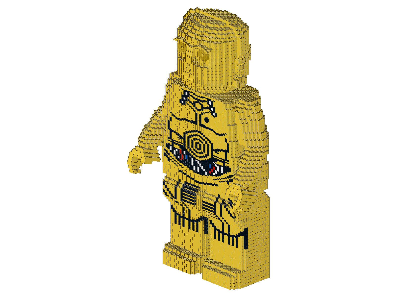 Bauanleitung instruction Figur Star Wars c3po Eigenbau Unikat Moc aus Lego Basic