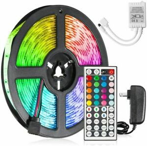 Led-Strip-Lighting-5M-16-4-Ft-5050-RGB-150-LEDs-Flexible-Color-Changing-Light