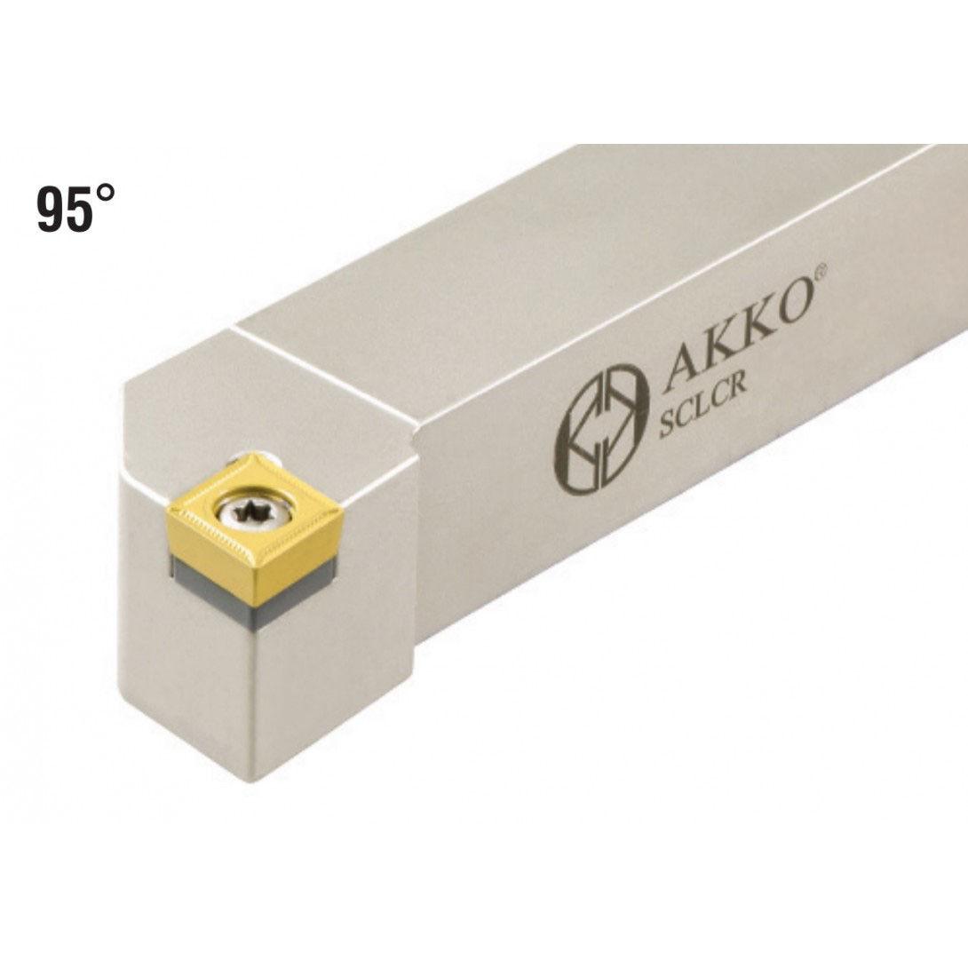 AKKO Drehhalter SCLCL 2525 M09-25x25 mm f/ür ISO Wendeplatten CCMT 09T3