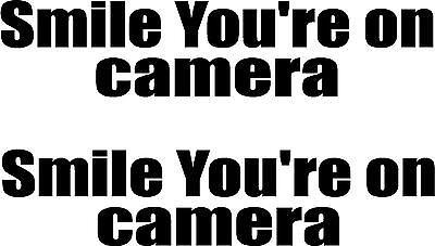 Boat Warning Smile your on camera Car Window Sticker Bike Body Panel 1 Van