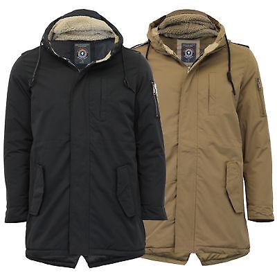 Brave Soul Homme carlosa Sherpa Col Veste Boutonnage Double Smart Wool Coat